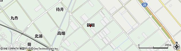 愛知県豊川市御津町下佐脇(新畑)周辺の地図