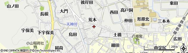 愛知県蒲郡市金平町(荒木)周辺の地図