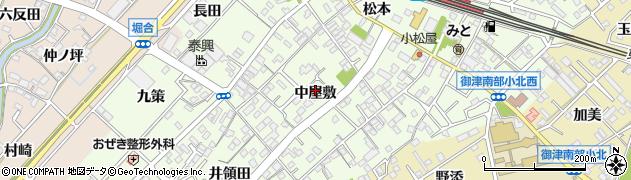 愛知県豊川市御津町西方周辺の地図