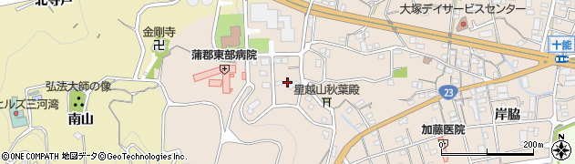愛知県蒲郡市大塚町(山ノ沢)周辺の地図