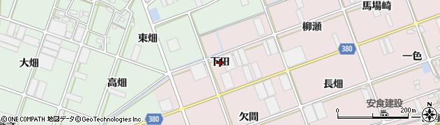 愛知県豊川市当古町(下田)周辺の地図