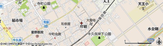 愛知県豊川市牛久保町(岸組)周辺の地図