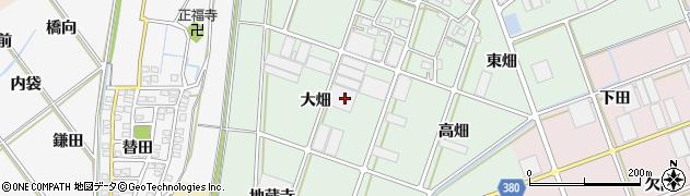 愛知県豊川市院之子町(大畑)周辺の地図