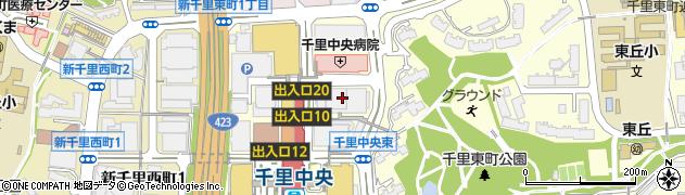 アビバ千里中央校周辺の地図