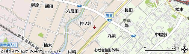 愛知県豊川市御津町泙野(堀合)周辺の地図