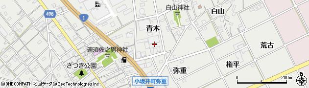 愛知県豊川市宿町(青木)周辺の地図