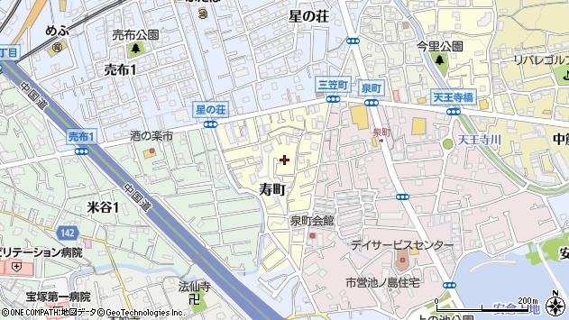 〒665-0865 兵庫県宝塚市寿町の地図
