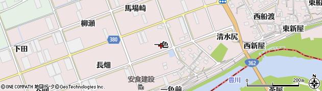 愛知県豊川市当古町(一色)周辺の地図