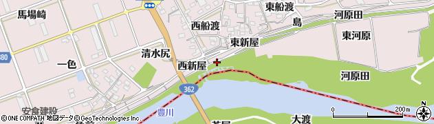 愛知県豊川市当古町(東新屋)周辺の地図