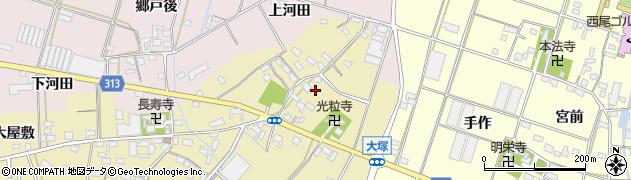 愛知県西尾市一色町対米(後川)周辺の地図