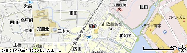 愛知県蒲郡市形原町(編笠)周辺の地図