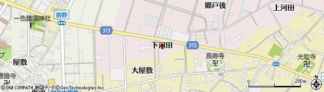 愛知県西尾市一色町池田(下河田)周辺の地図