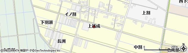 愛知県西尾市一色町中外沢(上銭成)周辺の地図