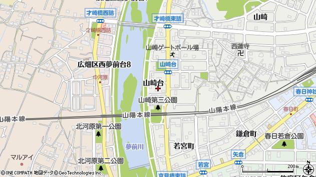 〒672-8096 兵庫県姫路市飾磨区山崎台の地図