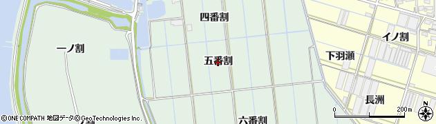 愛知県西尾市一色町細川(五番割)周辺の地図