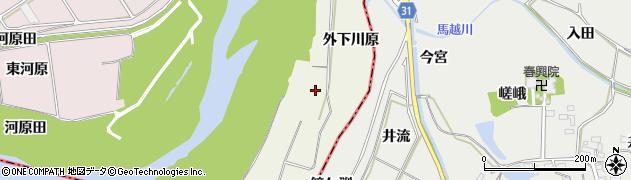 愛知県豊川市三上町(外下川原)周辺の地図