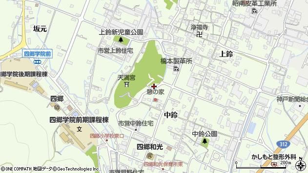 〒671-0242 兵庫県姫路市四郷町中鈴の地図