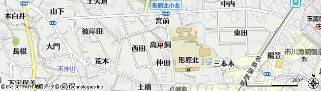 愛知県蒲郡市金平町(高戸飼)周辺の地図