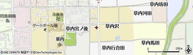 京都府京田辺市草内沢周辺の地図