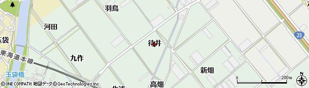 愛知県豊川市御津町下佐脇(待井)周辺の地図