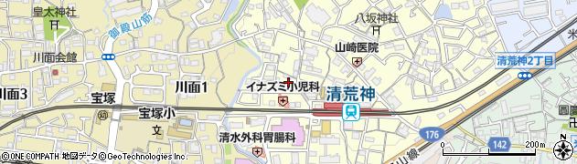 萬霊殿周辺の地図