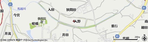 愛知県豊橋市石巻本町(入野)周辺の地図