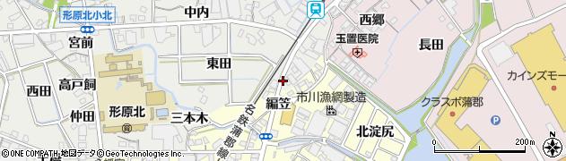 愛知県蒲郡市金平町(上浜田)周辺の地図