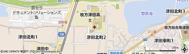 大阪府枚方市津田北町周辺の地図