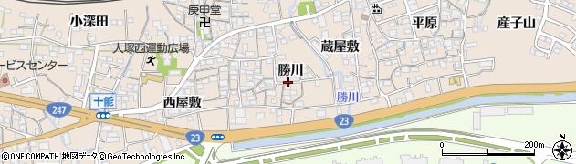 愛知県蒲郡市大塚町(勝川)周辺の地図
