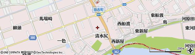 愛知県豊川市当古町(清水尻)周辺の地図