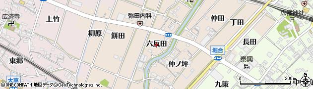 愛知県豊川市御津町泙野(六反田)周辺の地図