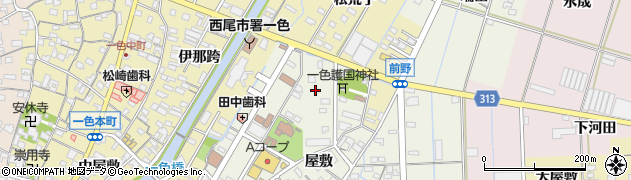 愛知県西尾市一色町前野(新田)周辺の地図