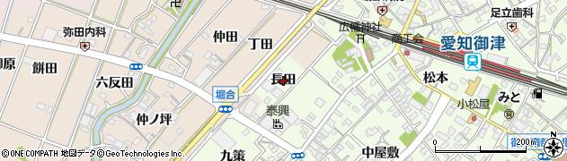 愛知県豊川市御津町西方(長田)周辺の地図