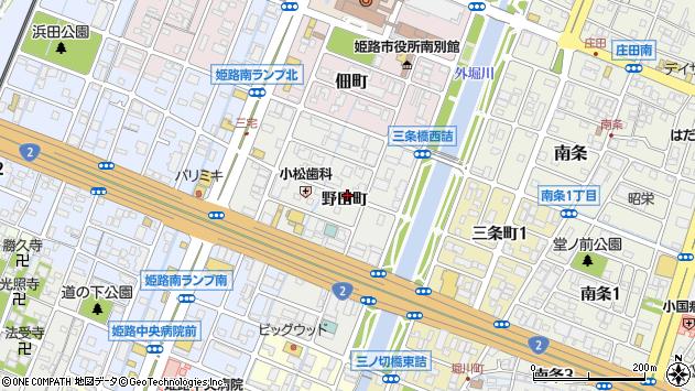 〒672-8040 兵庫県姫路市飾磨区野田町の地図