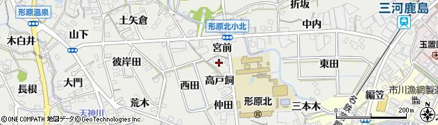 愛知県蒲郡市金平町(屋敷田)周辺の地図