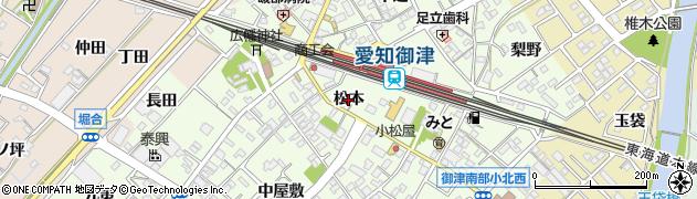 愛知県豊川市御津町西方(松本)周辺の地図