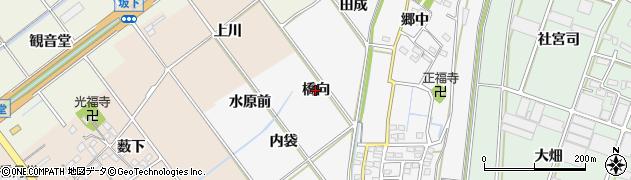 愛知県豊川市瀬木町(橋向)周辺の地図