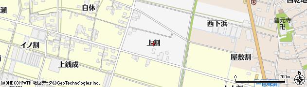 愛知県西尾市一色町赤羽(上割)周辺の地図