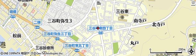 愛知県蒲郡市三谷町東周辺の地図