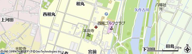 愛知県西尾市一色町大塚(河田)周辺の地図
