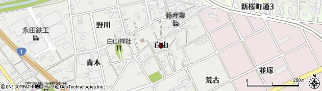 愛知県豊川市宿町(白山)周辺の地図