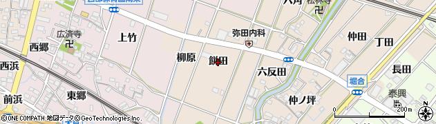愛知県豊川市御津町泙野(餅田)周辺の地図