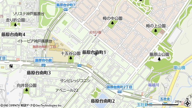 〒651-1303 兵庫県神戸市北区藤原台南町の地図