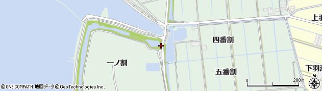 愛知県西尾市一色町細川(四番割下)周辺の地図