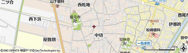 愛知県西尾市一色町味浜周辺の地図