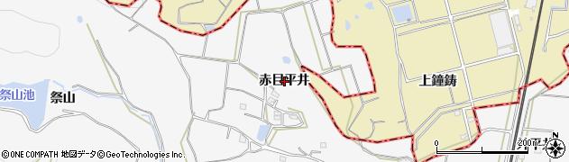 愛知県美浜町(知多郡)布土(赤目平井)周辺の地図