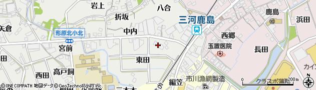 愛知県蒲郡市金平町(大木)周辺の地図