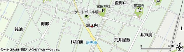 愛知県西尾市吉良町富田(堀ノ内)周辺の地図