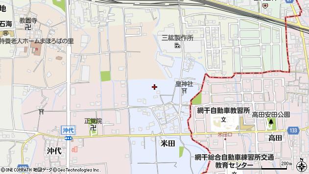〒671-1542 兵庫県揖保郡太子町米田の地図