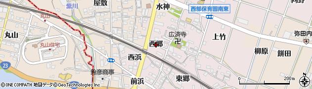 愛知県豊川市御津町大草(西郷)周辺の地図